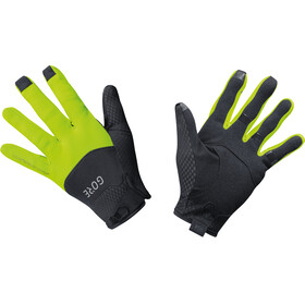 GORE WEAR C5 Windstopper Gloves Unisex black/neon yellow